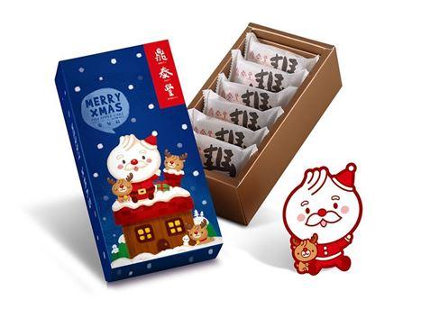 聖誕版鳳梨酥禮盒(6入)的圖片