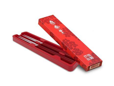 鼎泰豐平安筷禮盒2入(紅色)的圖片